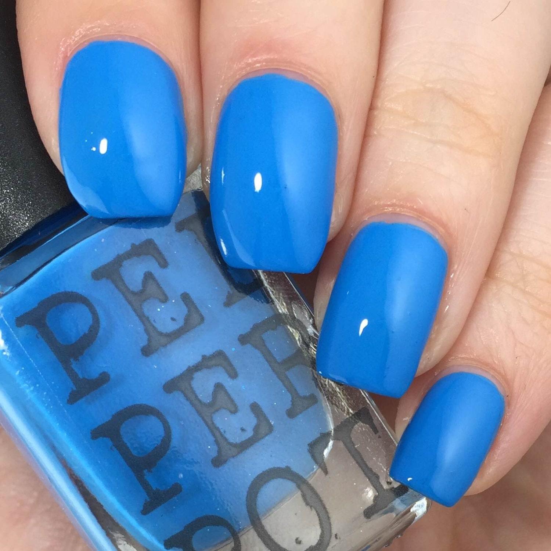 Blue Nail Polish Names: Bright Blue 5 Free Nail Polish Handmade Nail Lacquer Bath