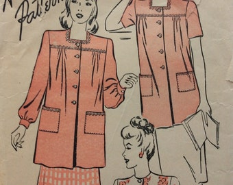 Advance 4137 misses smock size Large bust 36 - 38 vintage 1940's sewing pattern