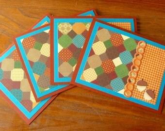 Blank Note Card Set, Handmade Blank Note Cards, Autumn Note Cards, All Occasion Cards, Notecard Set, Notecards,Paper Handmade Greeting Cards