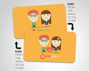 "2.5"" X 2.5"" (Social Cards) 250 Animated (Lenticular) Business Cards"