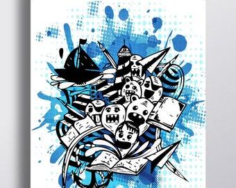The books -  Ink illustration