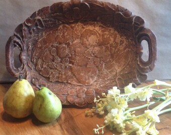 Vintage tray /Flourintine/ rustic decor