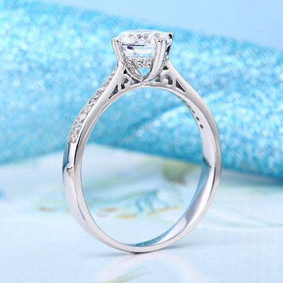 classic lab created engagement ring 925 by