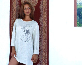 100% hemp - passion flower long sleeve