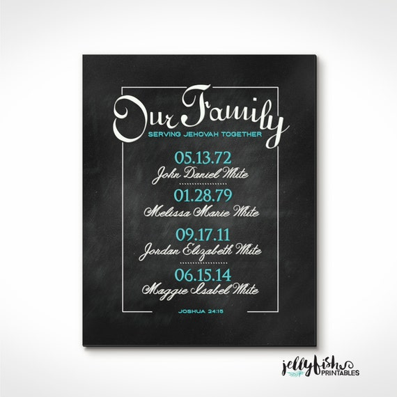 Wedding Gift Ideas For Jehovah Witness : ... Print for Jehovahs Witnesses- Great Gift Idea. Custom Made for You