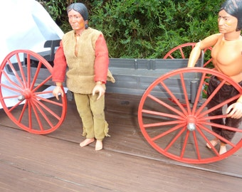 SALE  JOHNNY WEST old west  wagon and dolls