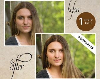 Digital Photo Editing & Retouching: Photoshop Brightening, Skin Clearing, Teeth Whitening, + More (1 Photo)