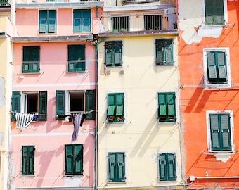 Cinque Terre, Riomaggiore, Cinque Terre Print, Cinque Terre Photograph, Italy Photo, Italy Print, Pastel Print, Door Print, Colored Houses