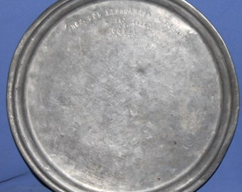 1935 Hand Made Tinned Copper Platter Tray