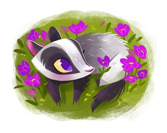 Badger - Art Print