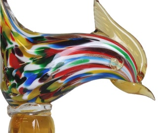 Murano Multi Coloured Art Glass Model
