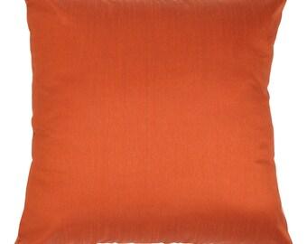 Solid Rust Pillow Cover Plain Rust Pillow Rust Decorative Pillow Rust Accent Pillow Solid Rust Pillow Cover Solid Rust Throw Pillow Bedding