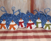 Happy Snowmen Ornies