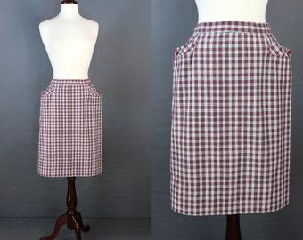 Sweetheart Tartan Plaid 60's Pencil Skirt