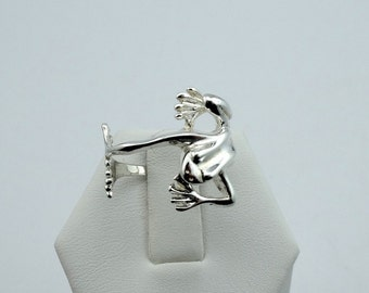 Kiss Me I'm a Prince!  Darling Sterling Silver Frog Ring Wraps Around Your Finger and Your Heart  #FRG22-SR1