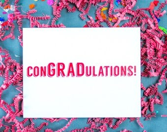ConGRADulations Card, Graduation Card, Graduate Card