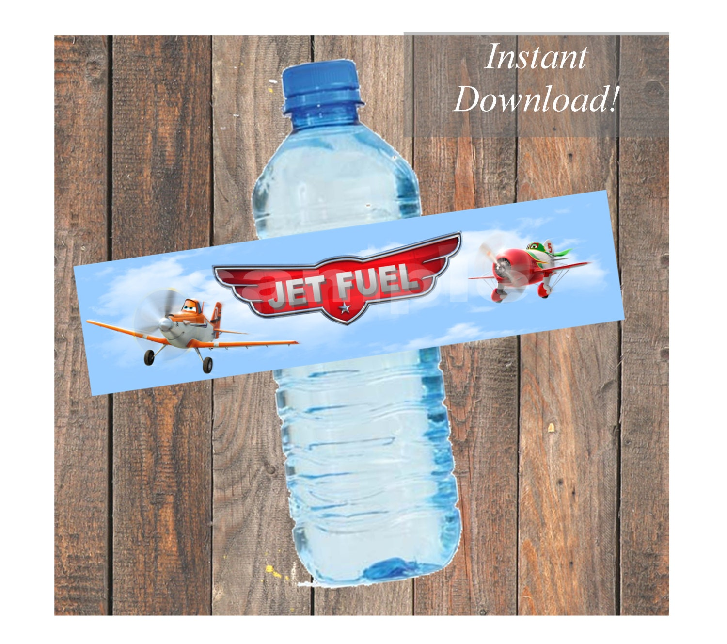 Disney Planes Jet Fuel Water Bottle Labels For By