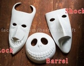 Read info before order inspired Lock Shock Barrel masks UNPAINTED Nightmare Before Christmas movie animation halloween