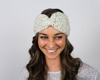 Knit Turban Headband   Wheat