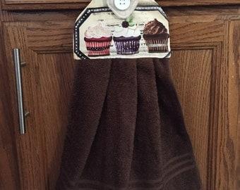 Cupcake kitchen/bathroom hanging towel