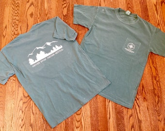 COMFORT COLORS Light Green Mountain short-sleeve pocket - Never Settle Apparel