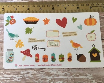 Country Chic Fall Stickers