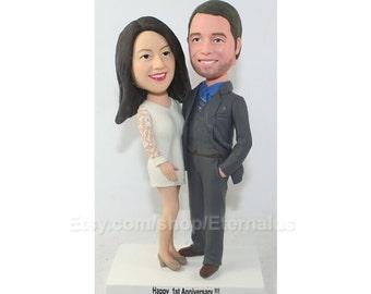 Bride & Groom Personalized Wedding Cake Topper , Custom Handmade Bride and Groom Cake Topper, wedding cake topper