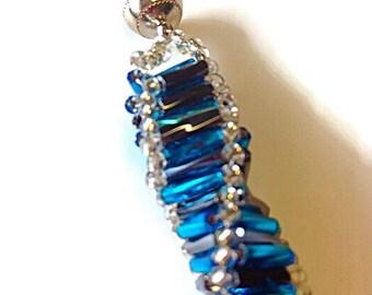 Aqua Spiral Bead Bracelet~Spiral Bracelet~Handmade Bracelet~Unique Bracelet~7 Inches~Beaded Bracelet For Women~Handmade Jewellery
