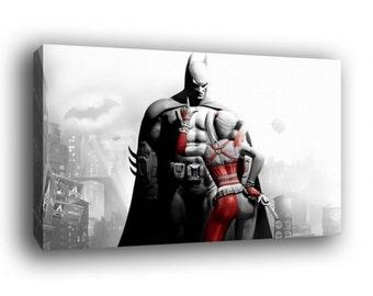 Batman Harley Quinn Canvas Art Print A1 A2 A3 A4