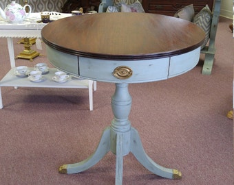 SOLD*****Antique Round Accent Table Shabby Chic****SOLD****