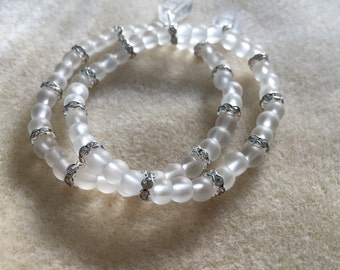 Simple Pretty Glass Crystal Rondelle Bracelet