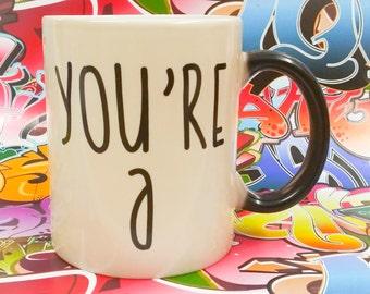 Mature sweary mug, Colour change mug, rude mug, censored, UNT mug, c*nt coffee cup