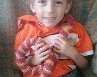 crochet snake plush toy- marrakesh