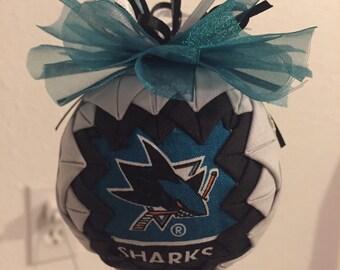 San Jose sharks christmas ornament