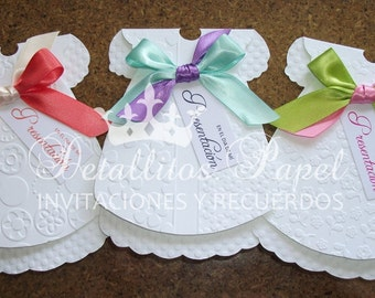 Baptism Invitation girl, Dress Invitation, Invitation Handmade Baptism, Christening Invitation 50