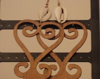Adinkra Symbol Earrings Free shipping.