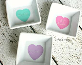 Valentine's Day Conversation Hearts MINI Jewelry Dish