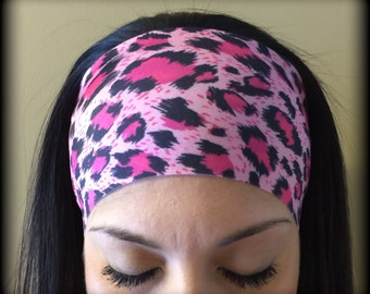 Pink Cheetah - Athletic Headband