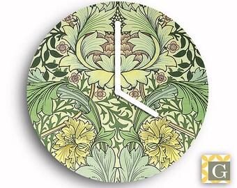 Wall Clock by GABBYClocks -  Art Nouveau Green Grande