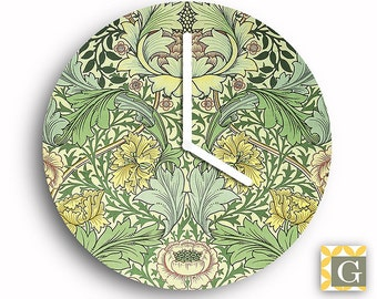Wall Clock by GABBYClocks -  Art Nouveau Green No. 2