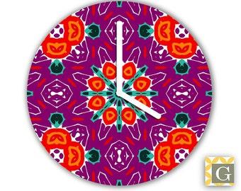 Wall Clock by GABBYClocks - Purple Haute Medium