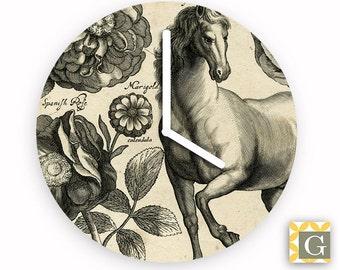 Wall Clock by GABBYClocks - Vintage Horse No 3