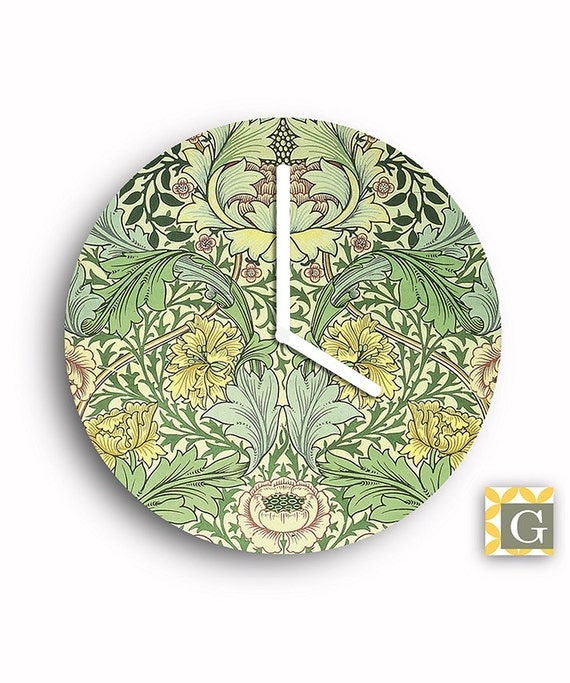 Art Wall Jr Green Jacket : Wall clock by gabbyclocks art nouveau green no