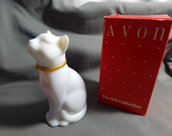 Vintage Avon Pretty Cat Decanter Bottle Full of Cotillion Cologne