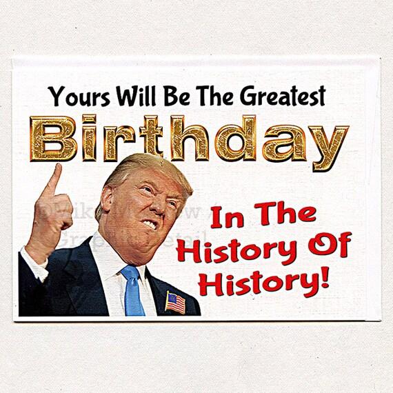 Amazon Com Funny Birthday Card Donald Trump Birthday: Donald Trump Funny Birthday Card Birthday Card Funny