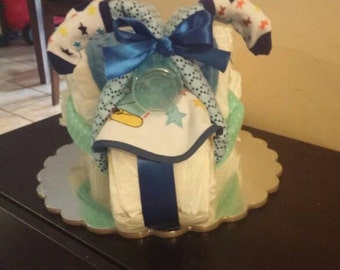 Tricycle Diaper Cake FREE SHIPPING