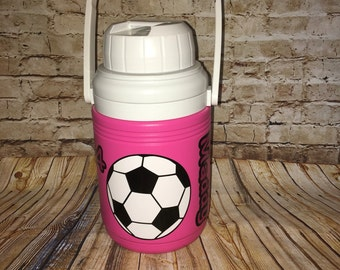 Personalized Sports Scoccer Water Jug Cooler- 1.3 Quart