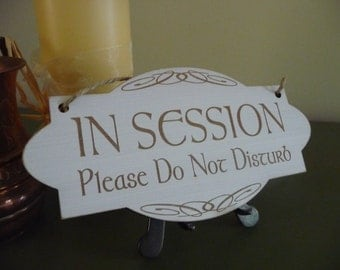 In Session Sign, Do Not Disturb Sign, Distressed Celtic Door Sign, Wooden Business Sign, Engraved Sign, Office Sign