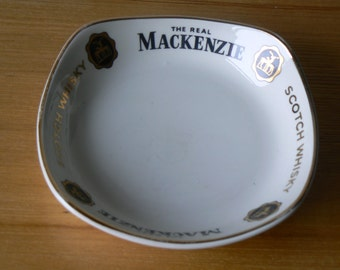 Small Vintage Ashtray by Wade pdm Advertising The Real MacKenzie Scotch Whisky.
