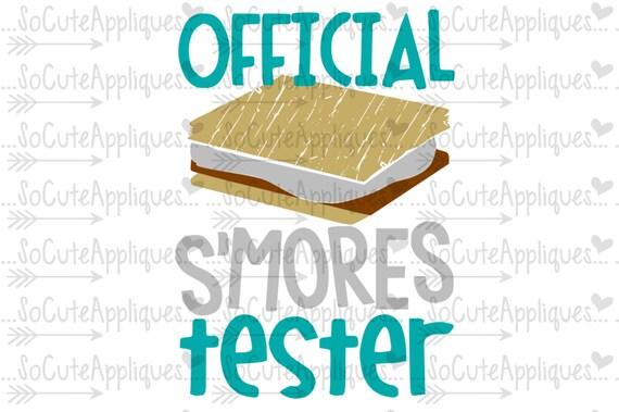 Official Smores Tester Camp Cut File Smores Svg Summer